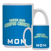 Mom Full Color White Mug 15oz-Arched Texas A&M Corpus Christi