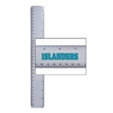 12 Inch White Plastic Ruler-Islanders