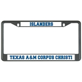 Metal License Plate Frame in Black-Texas A&M Corpus Christi/ Islanders