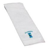 White Golf Towel-Islanders w/I