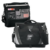Slope Black/Grey Compu Messenger Bag-CUNY SPH Square
