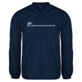 V Neck Navy Raglan Windshirt-CUNY SPH Flat