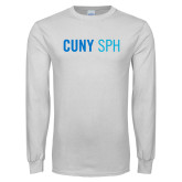 White Long Sleeve T Shirt-CUNY SPH