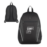 Atlas Black Computer Backpack-CUNY SPH Square