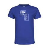 Youth Royal T Shirt-CUNY SPH