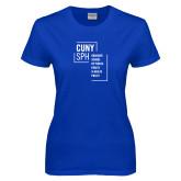 Ladies Royal T Shirt-CUNY SPH