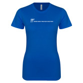Next Level Ladies SoftStyle Junior Fitted Royal Tee-CUNY SPH Flat