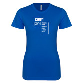 Next Level Ladies SoftStyle Junior Fitted Royal Tee-CUNY SPH