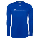 Under Armour Royal Long Sleeve Tech Tee-CUNY SPH Flat