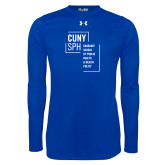 Under Armour Royal Long Sleeve Tech Tee-CUNY SPH