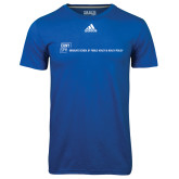 Adidas Climalite Royal Ultimate Performance Tee-CUNY SPH Flat