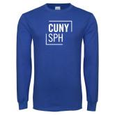 Royal Long Sleeve T Shirt-CUNY SPH Square