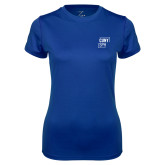 Ladies Syntrel Performance Royal Tee-CUNY SPH Square