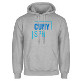 Grey Fleece Hoodie-CUNY SPH Square