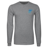 Grey Long Sleeve T Shirt-CUNY SPH Square
