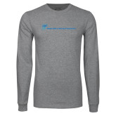 Grey Long Sleeve T Shirt-CUNY SPH Flat