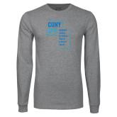 Grey Long Sleeve T Shirt-CUNY SPH
