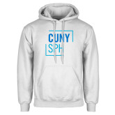 White Fleece Hoodie-CUNY SPH Square