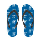 Ladies Full Color Flip Flops-CUNY SPH Square