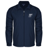 Full Zip Navy Wind Jacket-CUNY SPH Square
