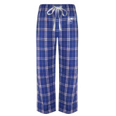 Royal/White Flannel Pajama Pant-CUNY SPH Square