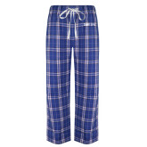 Royal/White Flannel Pajama Pant-CUNY SPH