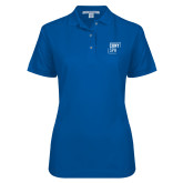 Ladies Easycare Royal Pique Polo-CUNY SPH Square
