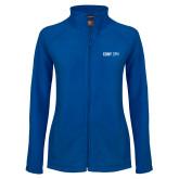 Ladies Fleece Full Zip Royal Jacket-CUNY SPH