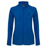 Ladies Fleece Full Zip Royal Jacket-CUNY SPH Square