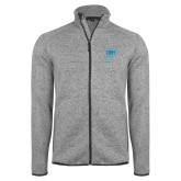 Grey Heather Fleece Jacket-CUNY SPH Square