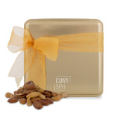 Deluxe Nut Medley Gold Medium Tin-CUNY SPH Square  Engraved