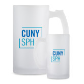 Full Color Decorative Frosted Glass Mug 16oz-CUNY SPH Square