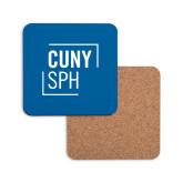 Hardboard Coaster w/Cork Backing-CUNY SPH Square