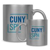Full Color Silver Metallic Mug 11oz-CUNY SPH Square