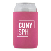 Neoprene Hot Pink Can Holder-CUNY SPH Square