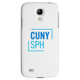 White Samsung Galaxy S4 Cover-CUNY SPH Square