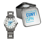 Mens Stainless Steel Fashion Watch-CUNY SPH Square