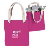 Allie Fuchsia Canvas Tote-CUNY SPH Square