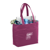 Fine Society Berry Computer Tote-CUNY SPH Square