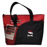 Excel Red Sport Utility Tote-Charlotte Checkers - Offical Logo