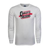White Long Sleeve T Shirt-Charlotte Checkers Hockey Dept