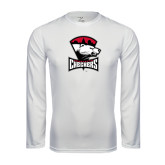 Syntrel Performance White Longsleeve Shirt-Charlotte Checkers - Offical Logo