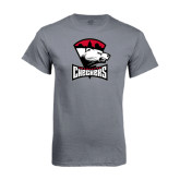 Charcoal T Shirt-Charlotte Checkers - Offical Logo
