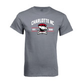 Charcoal T Shirt-Arched Charlotte NC Est 2010 Stacked
