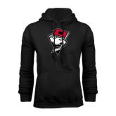Black Fleece Hood-Bear Head w/ Flag