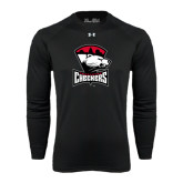Under Armour Black Long Sleeve Tech Tee-Charlotte Checkers - Offical Logo