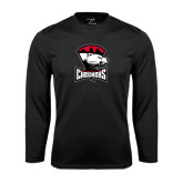 Syntrel Performance Black Longsleeve Shirt-Charlotte Checkers - Offical Logo