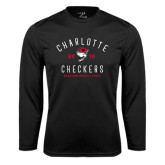 Syntrel Performance Black Longsleeve Shirt-Charlotte Checkers AHL Design