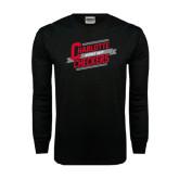 Black Long Sleeve TShirt-Charlotte Checkers Hockey Dept