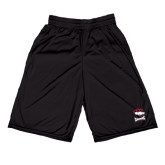 Midcourt Performance Black 9 Inch Game Short-Charlotte Checkers - Offical Logo